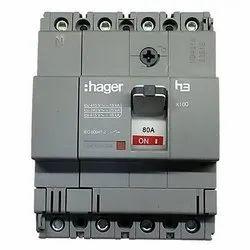 Hager 100A Four Pole MCCB