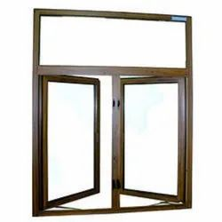 Brown Powder Coated Casement Aluminium Window, For Home, Size/Dimension: 4 Feet(height)