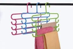 Multifunctional Four Layers Plastic Hangers Storage Trousers Rack Clothes Hanger
