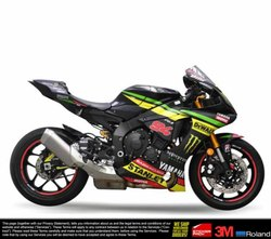 Multicolor YAMAHA R1 R1M Design 3 2015-2019 Model Full Body Wrap Decal Sticker