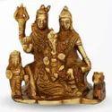 550 gm Brass Statue Shivji Pariwar