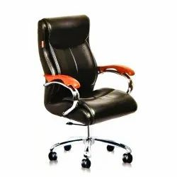1 Leather Black Fancy Office Chair