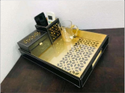 3 Piece Leatherite Tray Sets