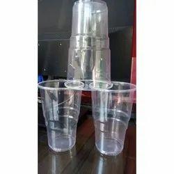 Transparent Plain 500 ml Disposable Plastic Glass