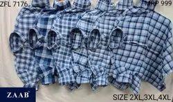 ZFL 7176 Men Check Shirts
