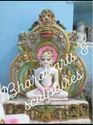 Painted Marble Buddha Statue