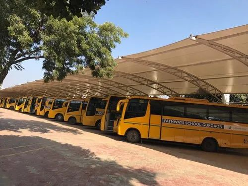 Cantilever Car Parking Tensile Structures