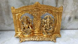 Golden Traditional Laxmi Ganesh Murti, For Home