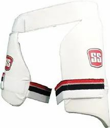 Strap White SS Aerolite Batting Thigh ads 2 in 1, For Sports