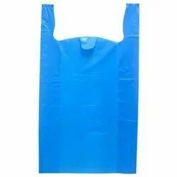 W Cut Plain Plastic Carry Bag