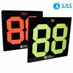SAS Black Football Player Substitution Board