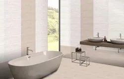 Neora Rectangular Ceramic Bathroom Wall Tile, Size: 300 x 600 mm, Thickness: 5-10 mm