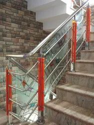 Acrylic Railing With Glass