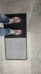 Foot Disinfection Rubber Entrance Mat With Foot Wiping Mat (2 In 1)