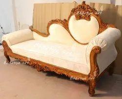 Bhartiye Art Handicraft Stylish Wooden Diwan