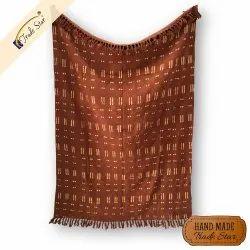 Wholesale Hand Block Print Cotton Cozy Shwal Handloom Bed Runner Mudcloth Printed Throws