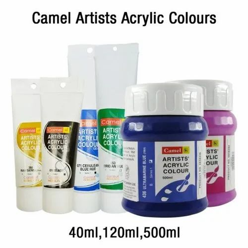 Camel Artists Acrylic Colours Open Stock 40 Ml, 120 Ml, 500 Ml