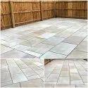 Golden Brown Sandstone Tiles for Outdoor Flooring