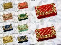 Floral Embroidery Designer Ethnic Clutch Bag