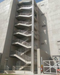 Gray Mild Steel Fire Staircase