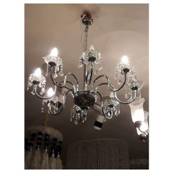 Glass Round Decorative LED Chandelier