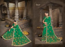 Fancy Designer Dupiyan Silk Embroidered Saree