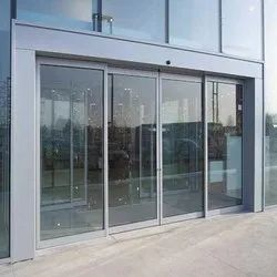 Plain Automatic SS Glass Sliding Door, For Hotel, Thickness: 46 Mm
