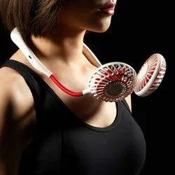Oriley Mini Neck Fan Neckband Sports Fan With Sanitizer & Light 3 Adjustable Speed Usb Rechargeable