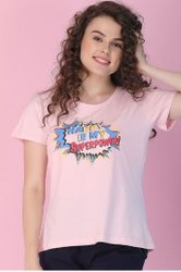 Clovia Half Sleeve Ladies Casual Wear Cotton T Shirt