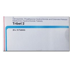 Tribet 2 Glimepiride 2mg Metformin 500mg Pioglitazone 15mg Tablet, Prescription, Abbott