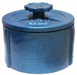 Cast Iron Closure Cap (PVC Pipe), Head Type: Round