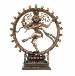 Copper Finish Blessing Lord Natraj Statue God Idol Scripture