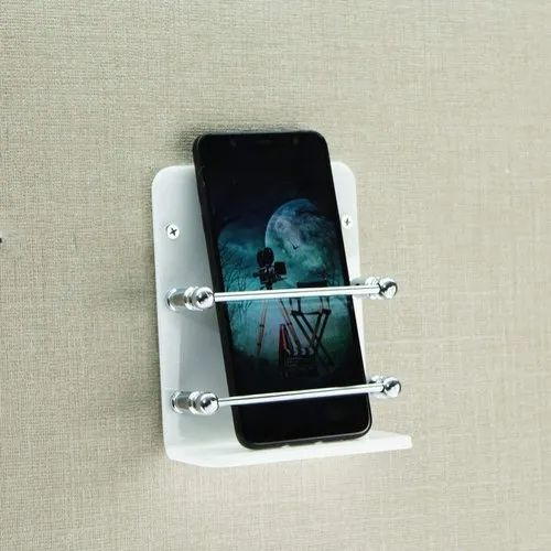 White Wall Acrylic Mobile Stand, Size: Medium