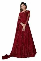Long Party Wear Red Suit/Gown
