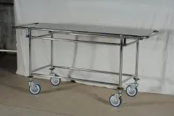 Stainless Steel Hospital Stretcher On Trolley
