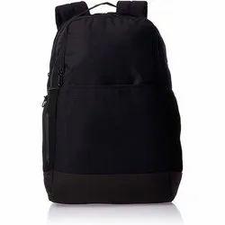 Polyester Black Zipper School Bag