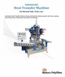 Fully Automatic Hot Stamping / Heat Transfer Film Label Printing Machine For Plastic Products