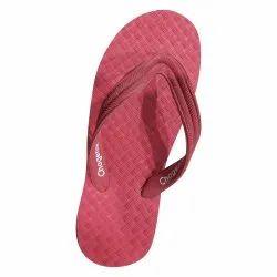 Rubber Plain Mens Red Hawai Slipper