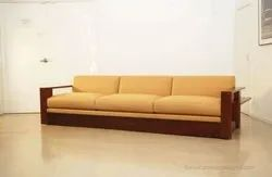3 Seater Wooden Sofa