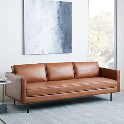 Brown Modern Leather Sofa, For Home, Hotel