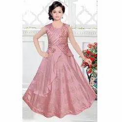 Girl Sleeveless Long Gown