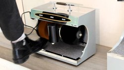 Black PVC Shoe Polishing Machine, For Daily
