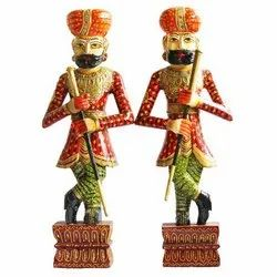 Multicolor Wooden Rajasthani Chowkidar, For home decor