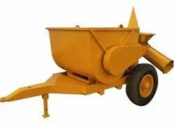 Mild Steel Concrete Mixer Tractor Trolley, Capacity: 1000 Liter