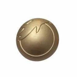 Zinc Alloy Golden Gold Plate Coat Button, Size/Dimension: 21 Mm