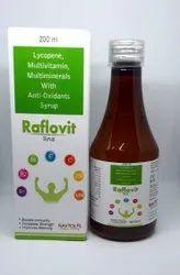 Lycopene Syrup with Vitamin A, Vitamin E, Ascorbic Acid, Selenium, Copper, Iodine