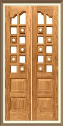 Border Burma Pooja Doors 32 Mm-Made With Seasoned Timber