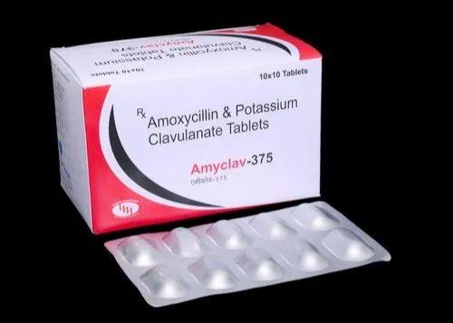 Amoxicillin and Potassium Clavulanate Tablets 375 MG