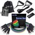 Kd Premium Fitness Tube Resistance Band Set 100-150 Lbs Latex Rubber Quality