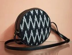 SNF Cotton,Rayon Printed Round Sling Bag